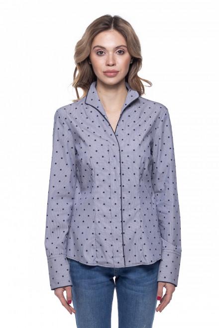 Блуза женская синяя в горох van Laack