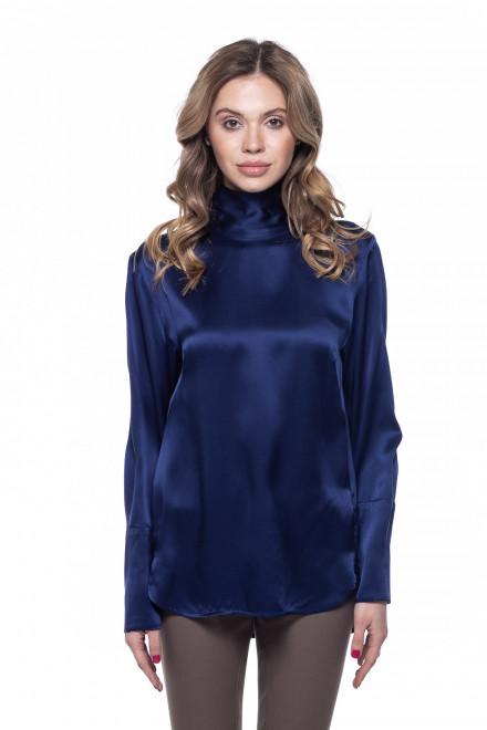 Блуза женская синяя из шелка van Laack