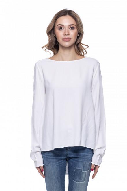 Женская блуза оверсайз с длинным рукавом белая Rich&Royal