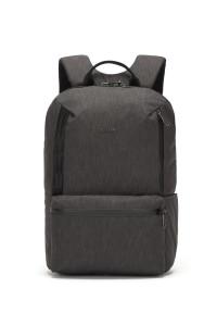 Рюкзак мужской на две лямки темно-синего цвета тканевый Pacsafe
