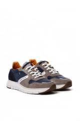 Туфли спортивные мужские темно-синие с серыми вставками Ambitious