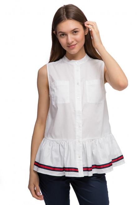 Блуза женская белая без рукавов River Woods