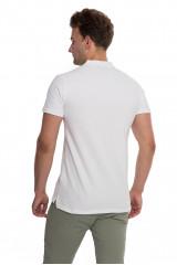Футболка-поло мужская белого цвета с логотипом  Junk De Luxe