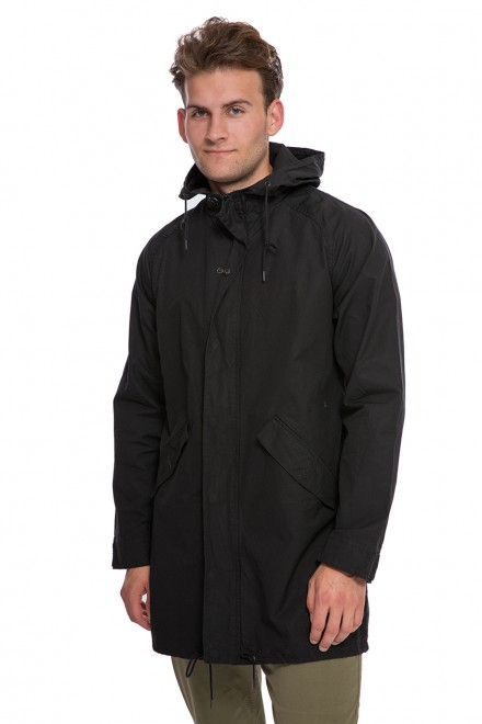 Куртка мужская с капюшоном черная Shine Original