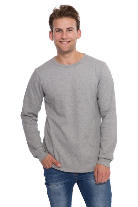 Пуловер мужской серого цвета свободного кроя  Junk de Luxe