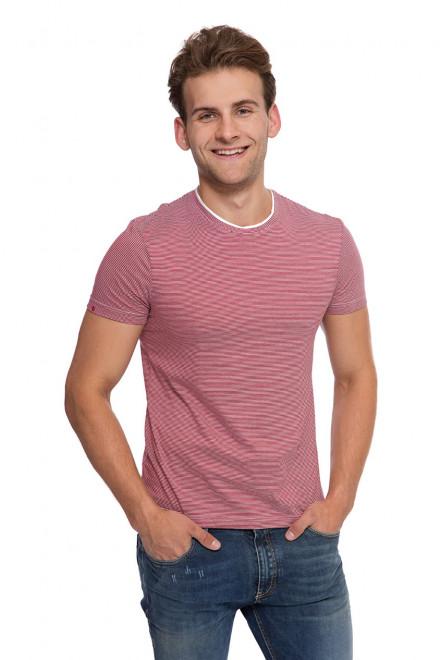 Бордовая футболка мужская van Laack