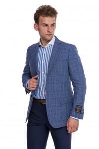 Однобортный голубой пиджак Cadini