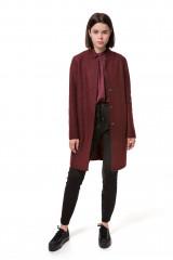 Пальто женское однобортное темно-красное Rich&Royal