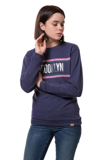 Пуловер женский синий с принтом Blend she