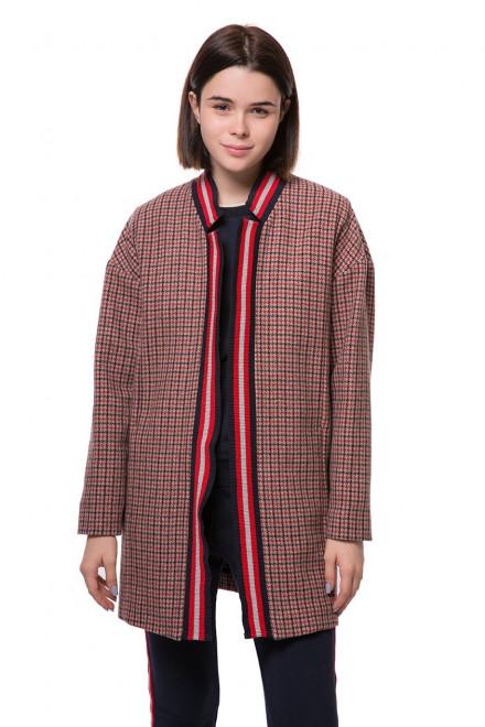Пальто женское однобортное объемное в клетку Rich&Royal
