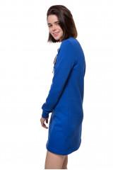 Платье женское мини с длинным рукавом синего цвета Rich&Royal