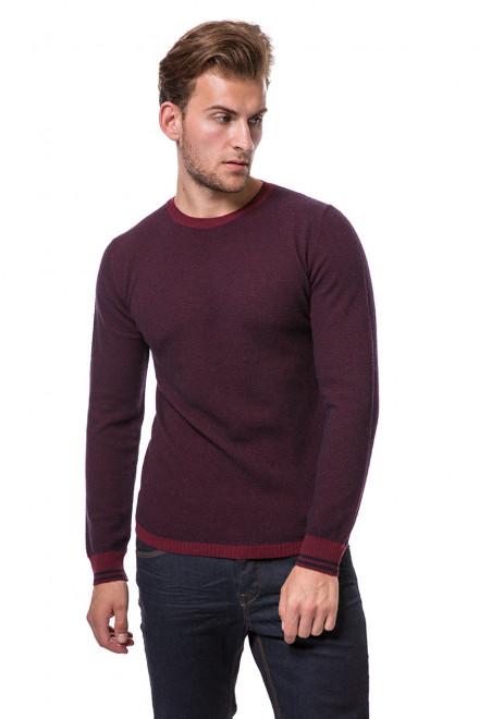 Пуловер мужской бордовый Wool&Co