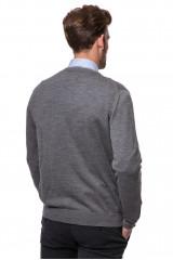 Кардиган мужской трикотажный серого цвета на пуговицах Fynch-Hatton