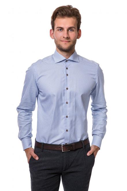 Рубашка мужская светло-голубая в мелкий принт R-2 Amsterdam