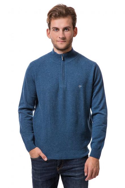 Пуловер мужской синего цвета с воротником-тройер на молнии Fynch-Hatton