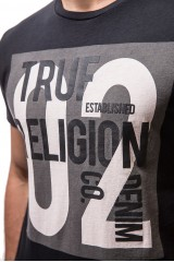 Футболка черная с принтом True Religion