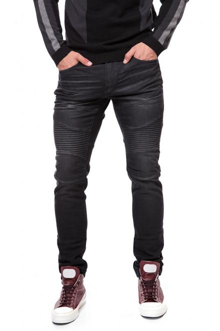 Джинсы мужские черного цвета зауженные с логотипом True Religion