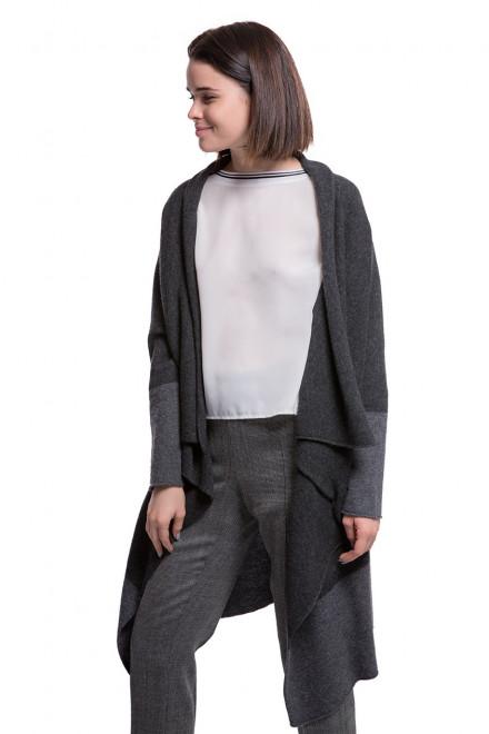 Кардиган женский серого цвета без застежки Weill
