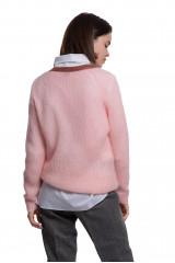 Пуловер женский розового цвета объемный и длинный Weill