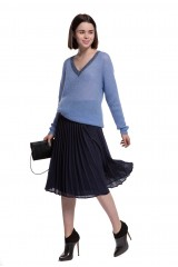 Юбка женская плиссе синего цвета Weill