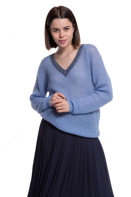 Пуловер женский голубой Weill