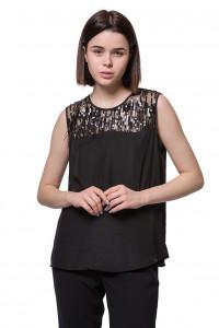Блуза женская черная Luisa Cerano