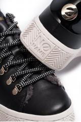 Сникеры женские черного цвета с логотипом бренда No name