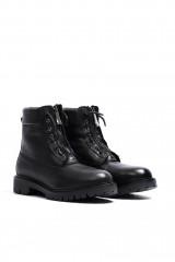 Ботинки женские черные на молнии кожаные The Seller