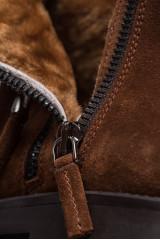 Ботильоны женские замшевые коричневого цвета The Seller