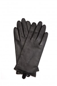 Перчатки женские черного цвета из гладкой кожи Otto Kessler