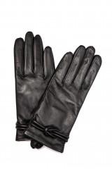 Перчатки женские черного цвета с плетеным декором Otto Kessler