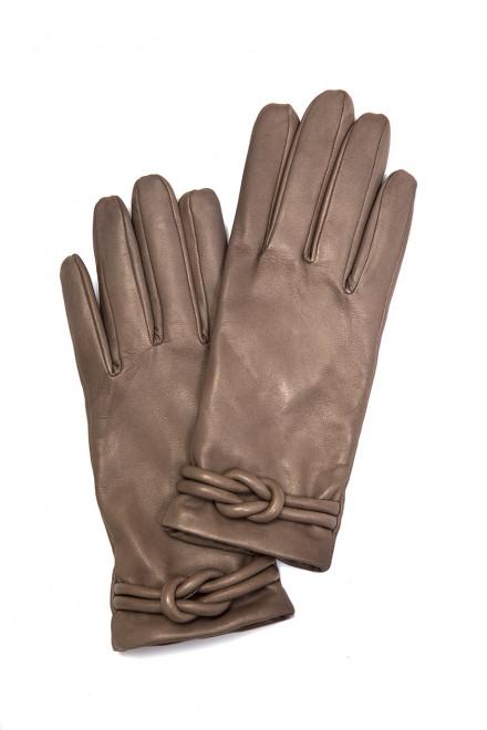 Перчатки женские светло-коричневого цвета Otto Kessler
