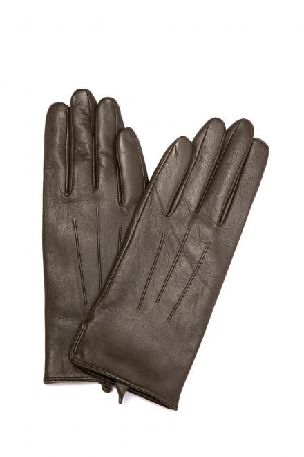 Перчатки женские кожаные коричневого цвета Otto Kessler