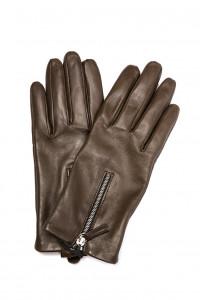 Перчатки женские коричневого цвета с молнией Otto Kessler