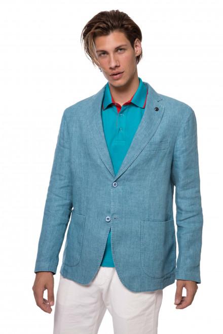 Пиджак мужской однобортный голубого цвета Harmont & Blaine