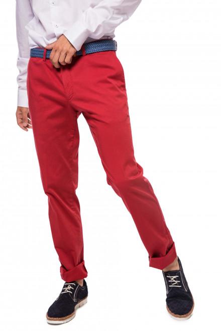 Чинос красного цвета Cadini