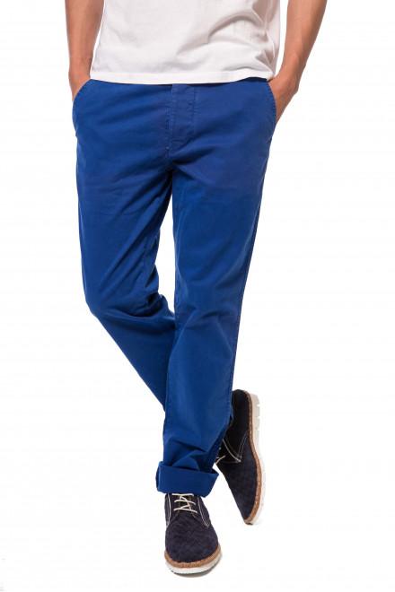 Штаны мужские синего цвета прямого кроя Blauer