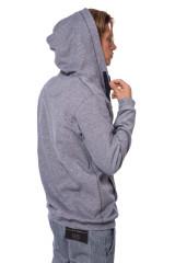 Пуловер мужской на молнии серого цвета van Laack