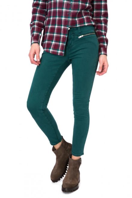 Джинсы узкие зеленые со средней талией Rich&Royal