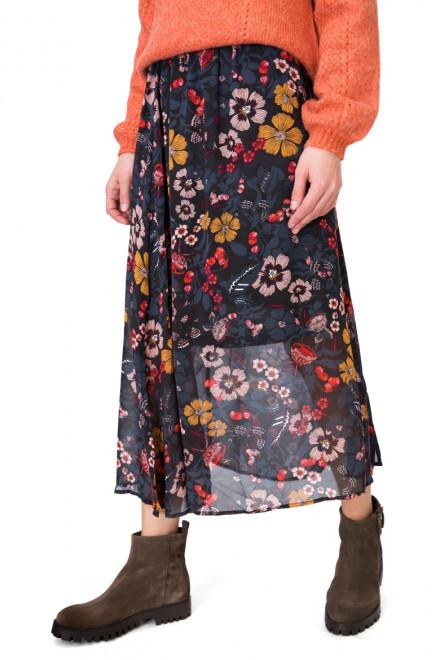 Юбка женская длинная в цветочный принт B.young