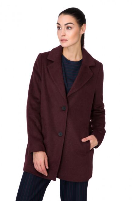 Пальто женское однобортное цвет бургунди Blend she