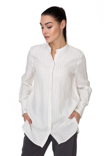 Рубашка женская с  длинным рукавом белая в полоску B.young