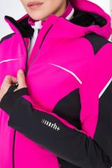 Куртка женская розовая с черными вставками Zero rh+