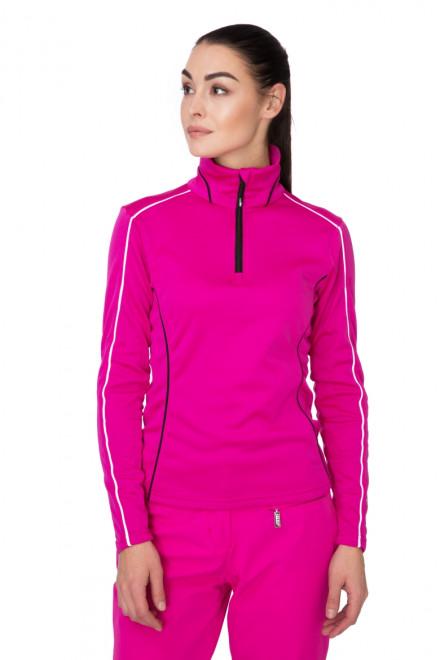 Пуловер женский лыжный фуксия Zero rh+