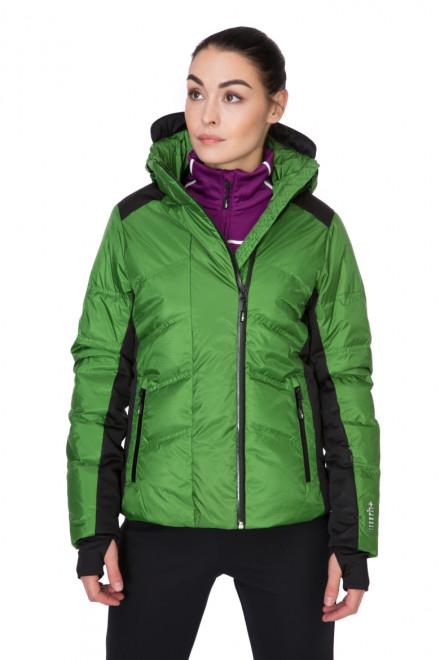 Куртка женская стеганая зеленая на молнии Zero rh+