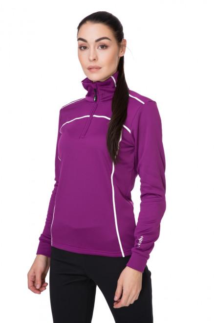 Пуловер женский на молнии темно-розовый Zero rh+