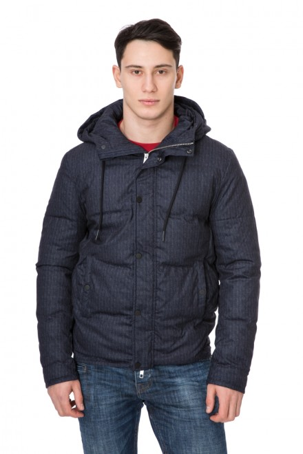 Куртка мужская стеганая короткая синяя Antony Morato