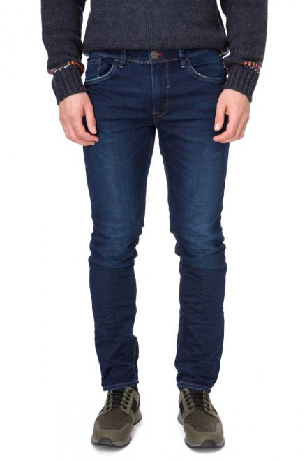 Джинсы мужские темно-синие с искусственными потертостями Antony Morato