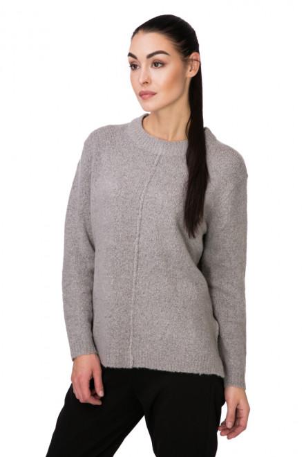 Пуловер женский широкий светло-серый B.young