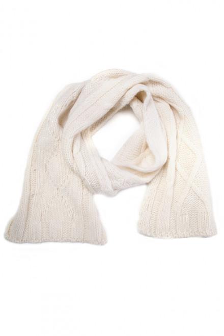 Шарф мужской белый Wool & Co